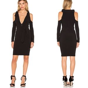 Bec & Bridge Cold Shoulder Long Sleeve Dress
